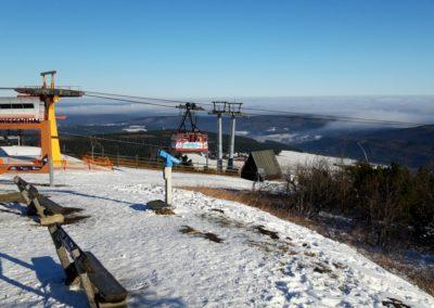Fichtelberg Bergstation der Schwebebahn